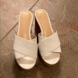 6.5 white Vince Camuto wedged